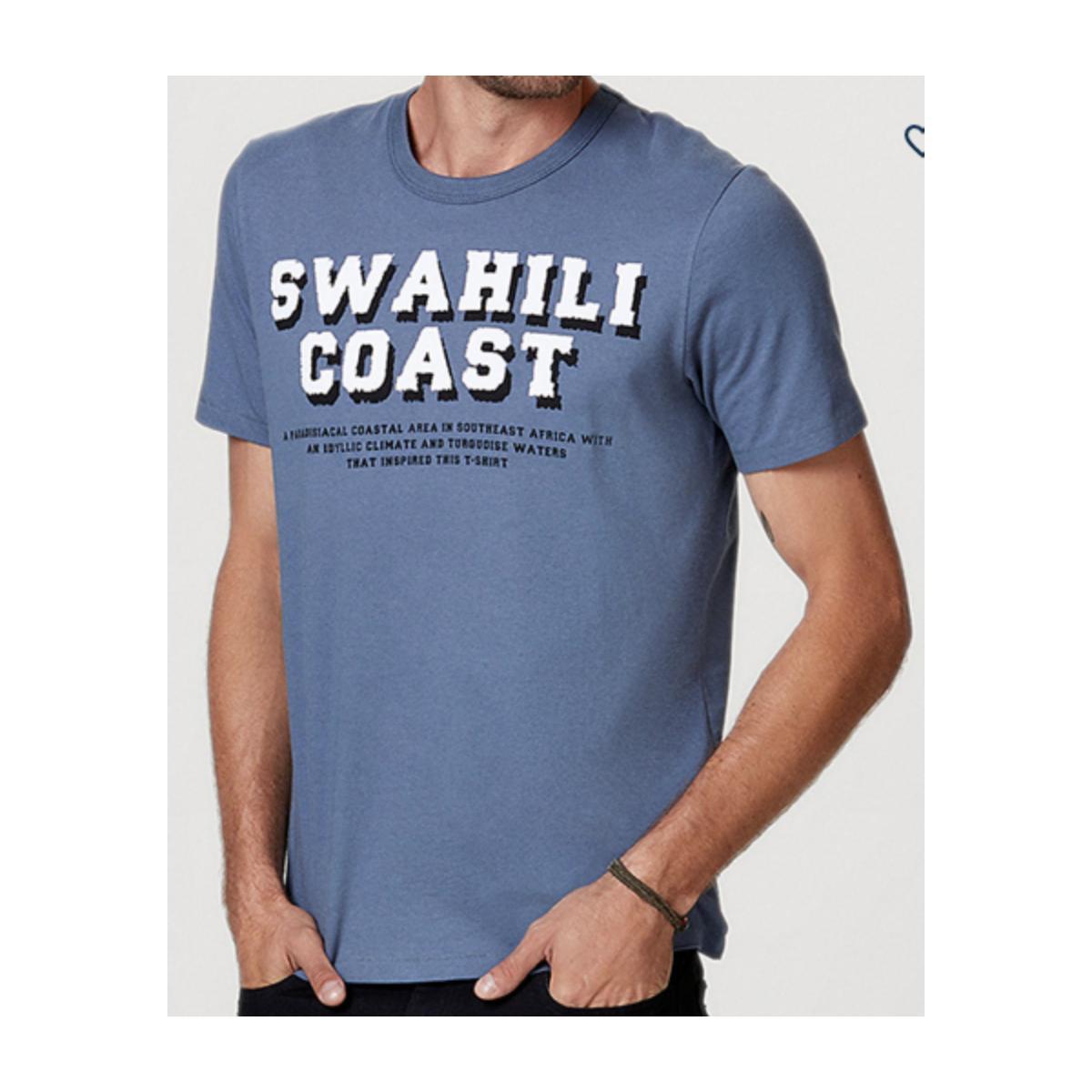 Camiseta Masculina Hering 4eeq Av2en Azul