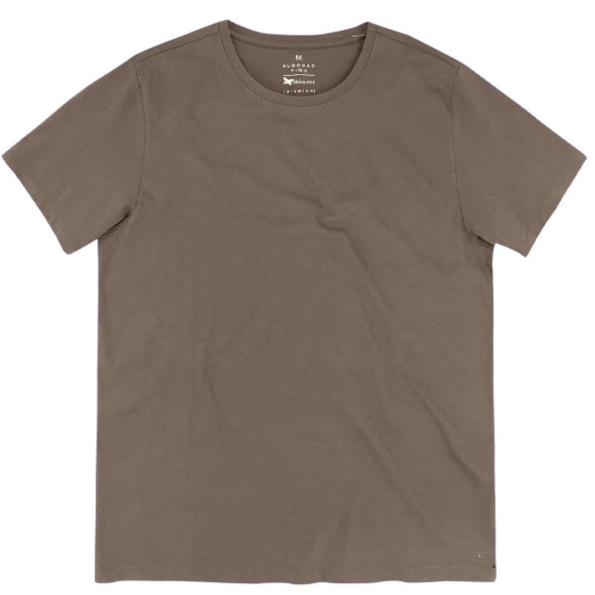 Camiseta Masculina Hering Kg99 Hlesi Marrom