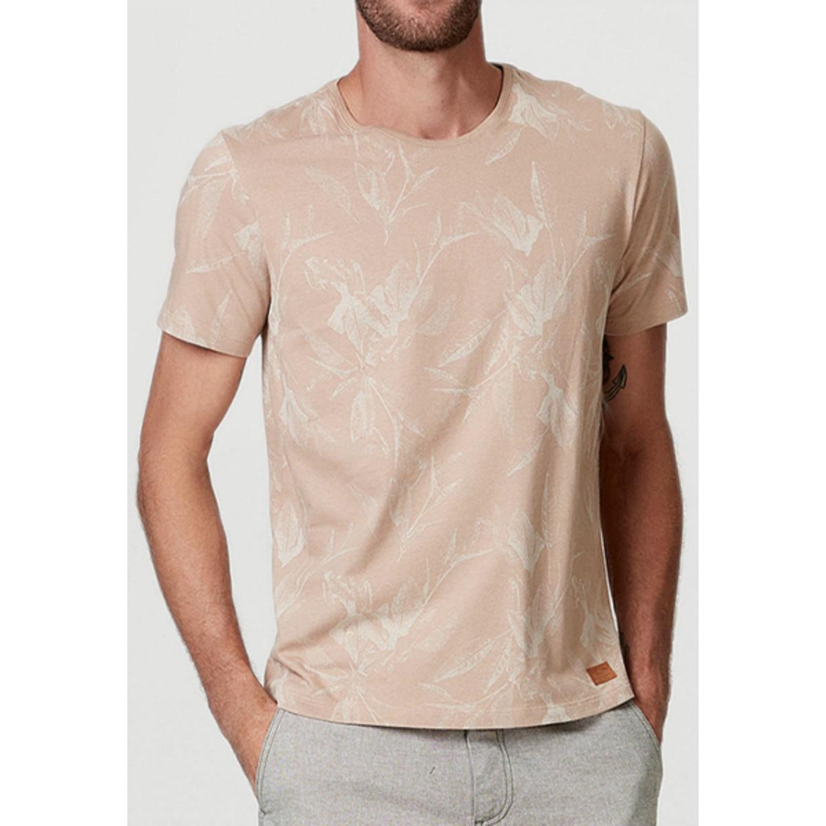 Camiseta Masculina Hering 4efk 3jen Bege Estampado