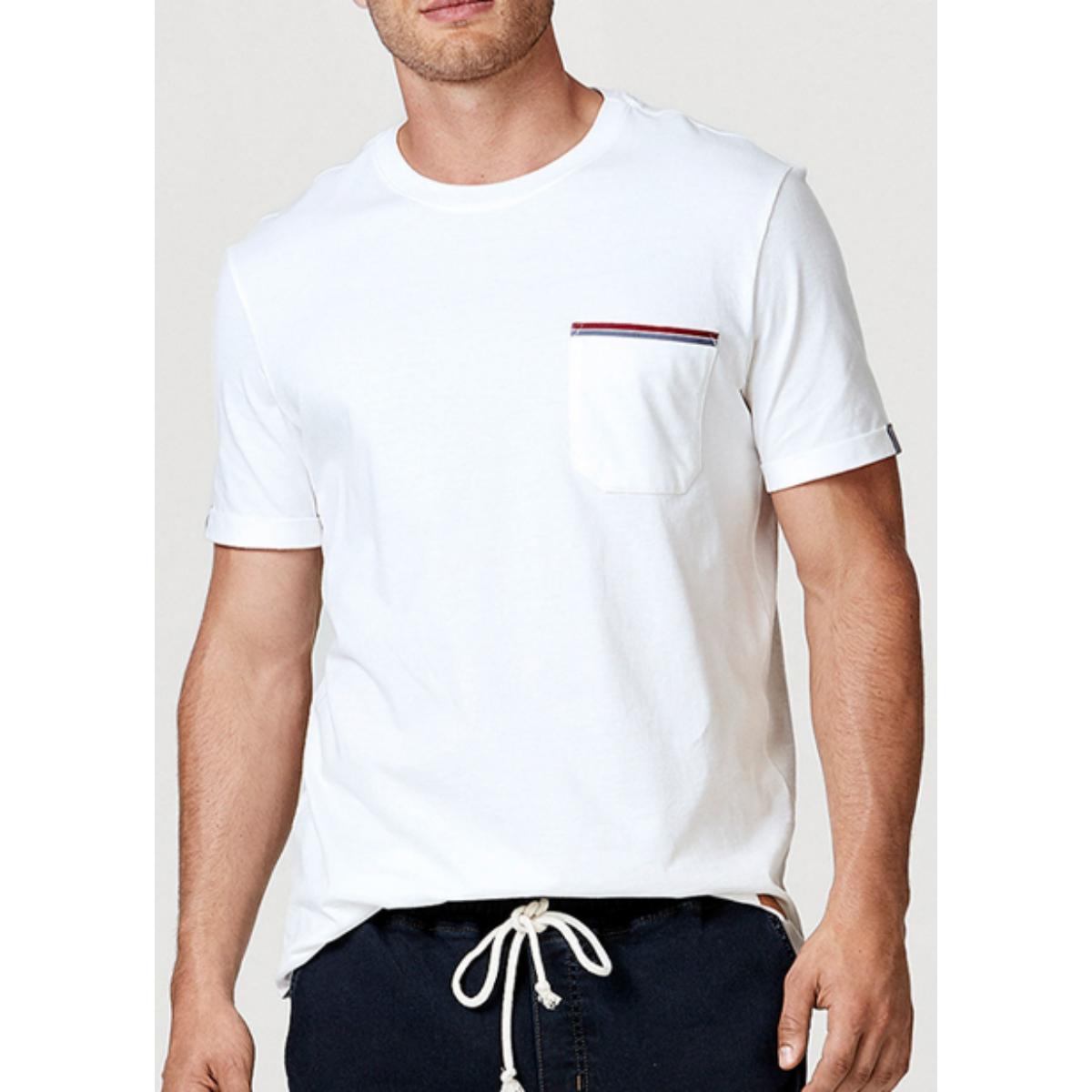 Camiseta Masculina Hering 4egx Nmcen Branco