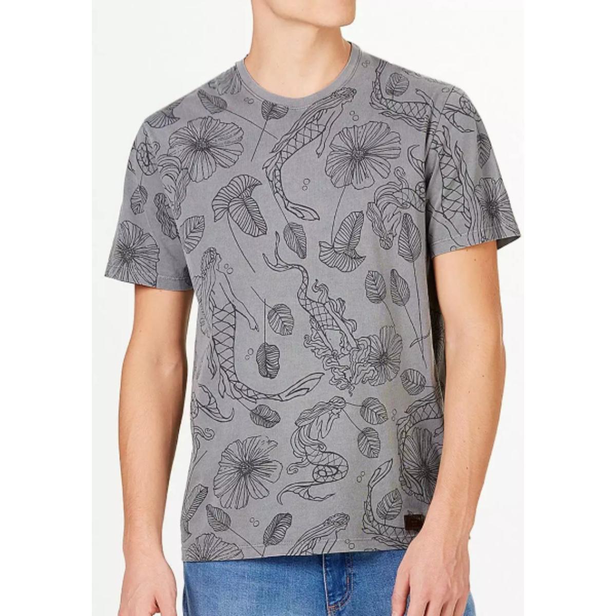 Camiseta Masculina Hering 4exq 1den Grafite