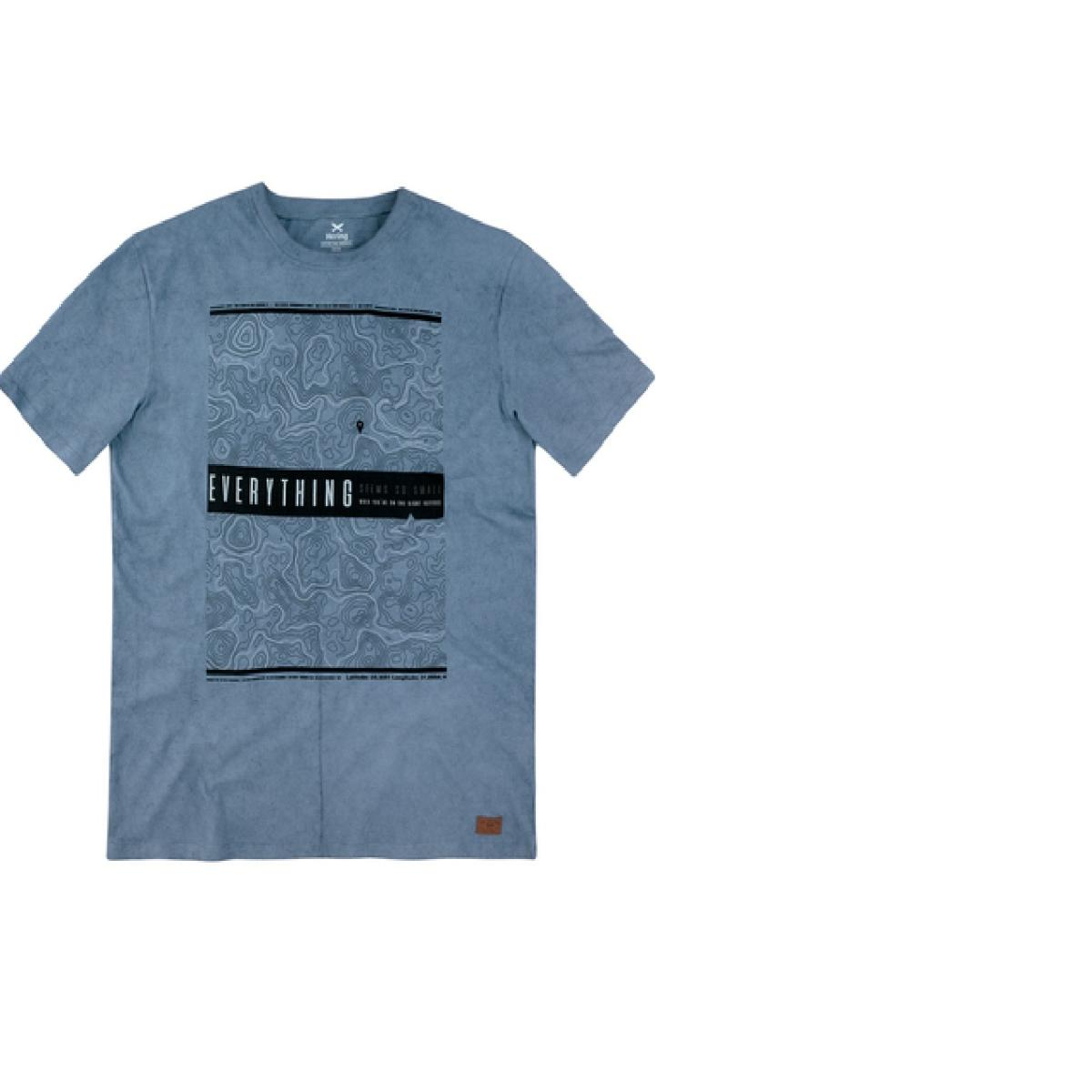 Camiseta Masculina Hering 4erv 1xen Azul Jeans