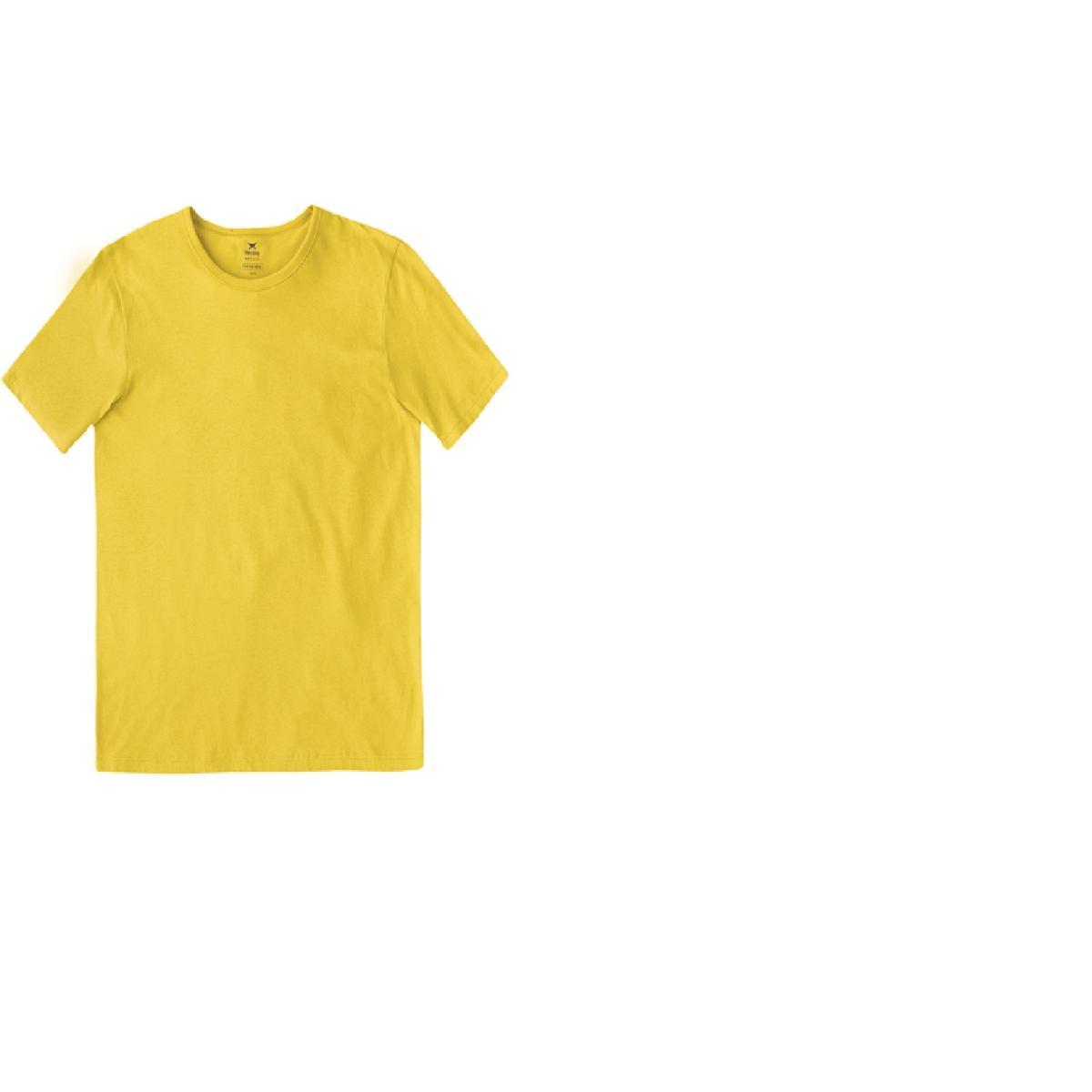 Camiseta Masculina Hering 0299 Y0een Amarelo