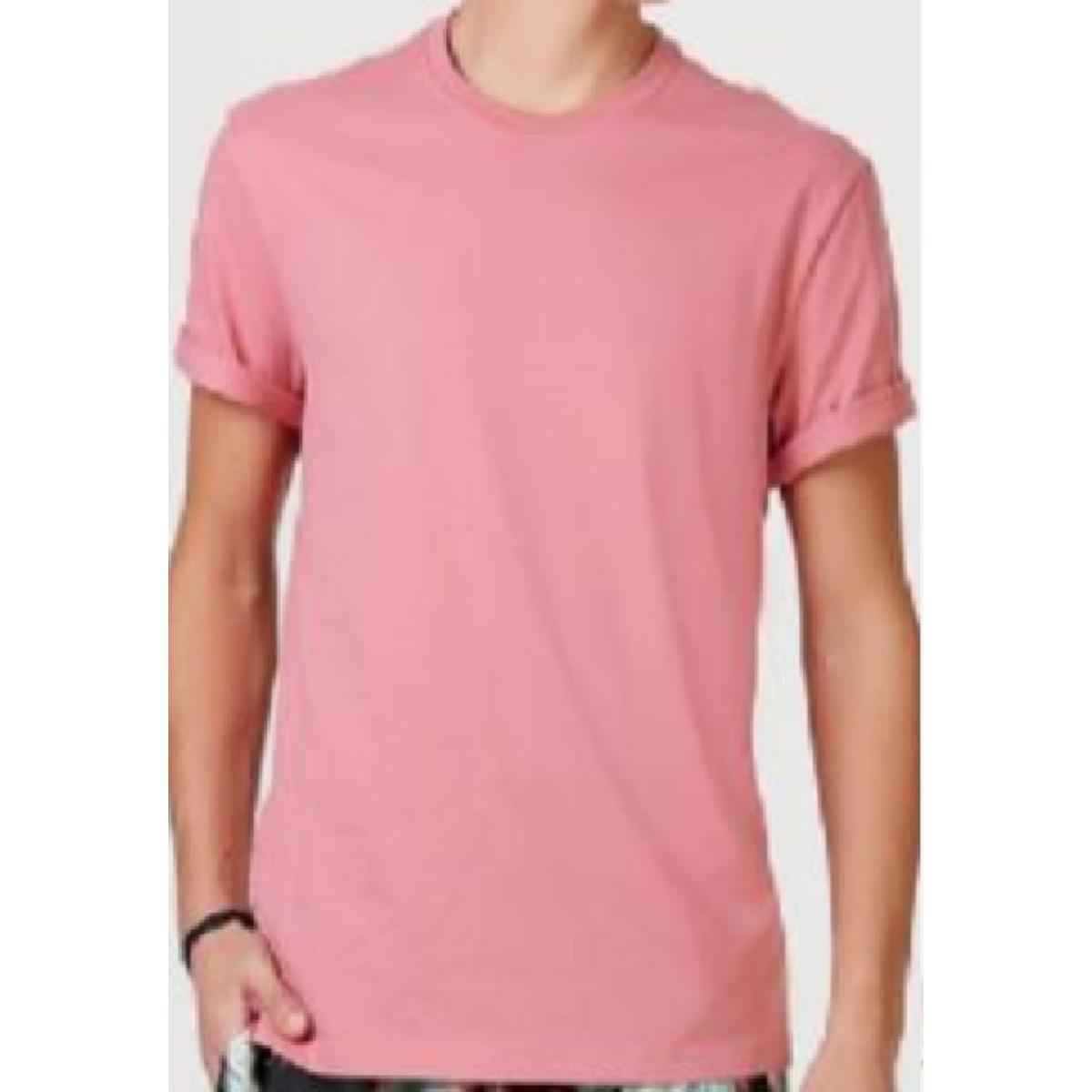 Camiseta Masculina Hering 0227 Khren Rosa