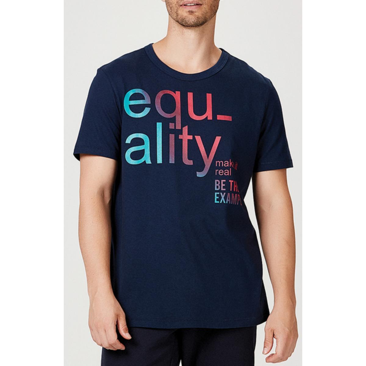 Camiseta Masculina Hering 4f1g Axten Marinho