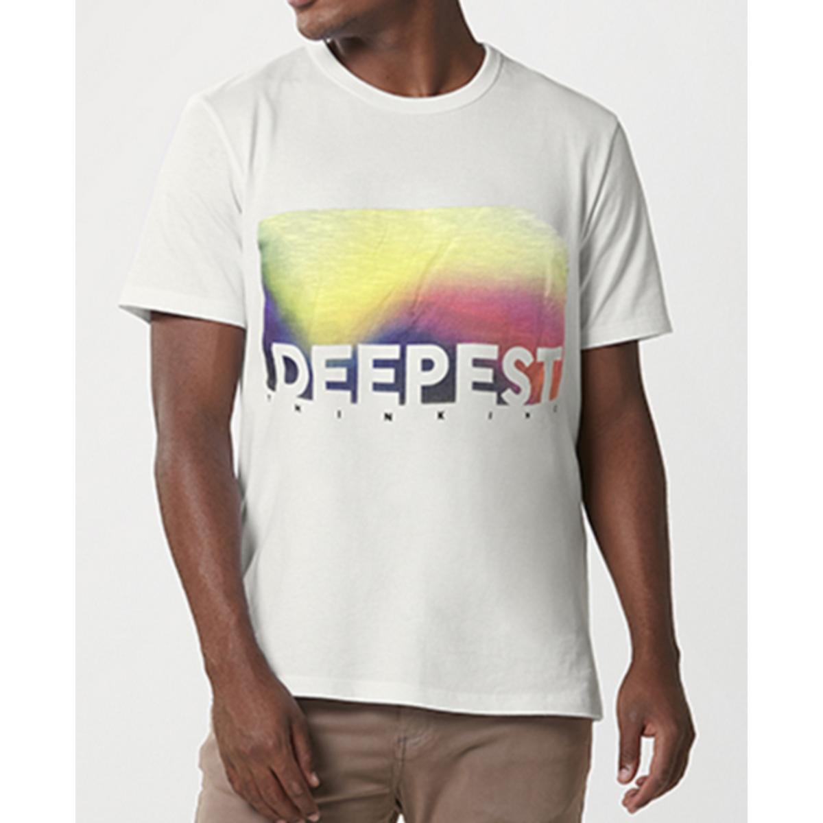 Camiseta Masculina Hering 4f87 1gen Off White