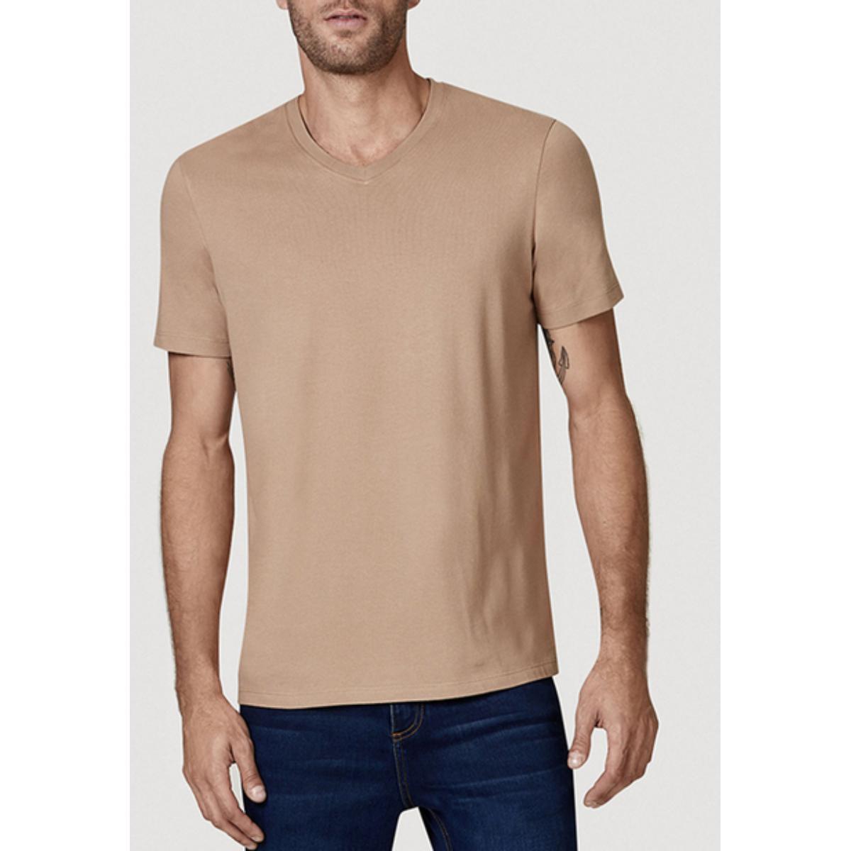 Camiseta Masculina Hering 022b Hlden Marrom Claro
