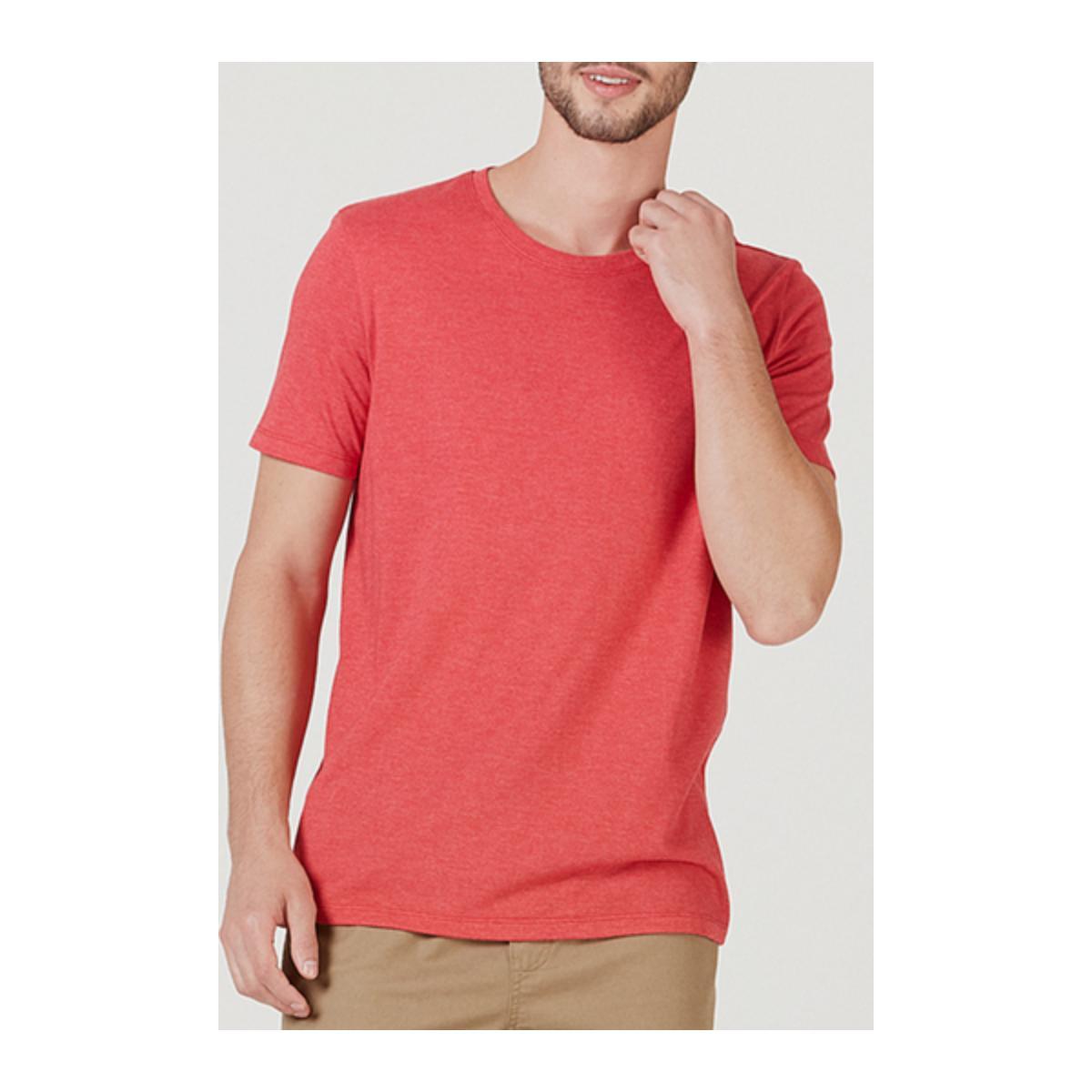 Camiseta Masculina Hering 0201 2ben Vermelho