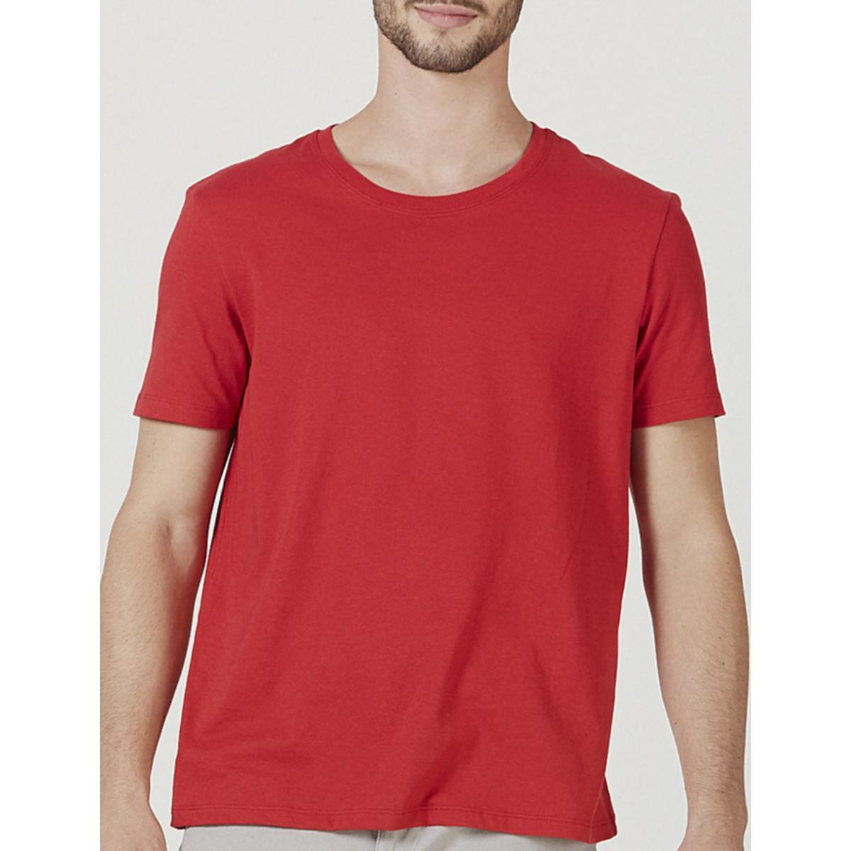 Camiseta Masculina Hering 0201 Rvten Vermelho