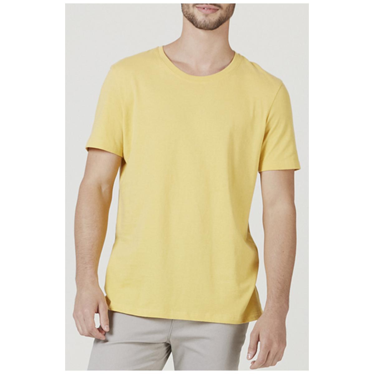 Camiseta Masculina Hering 0201 Ynjen Amarelo