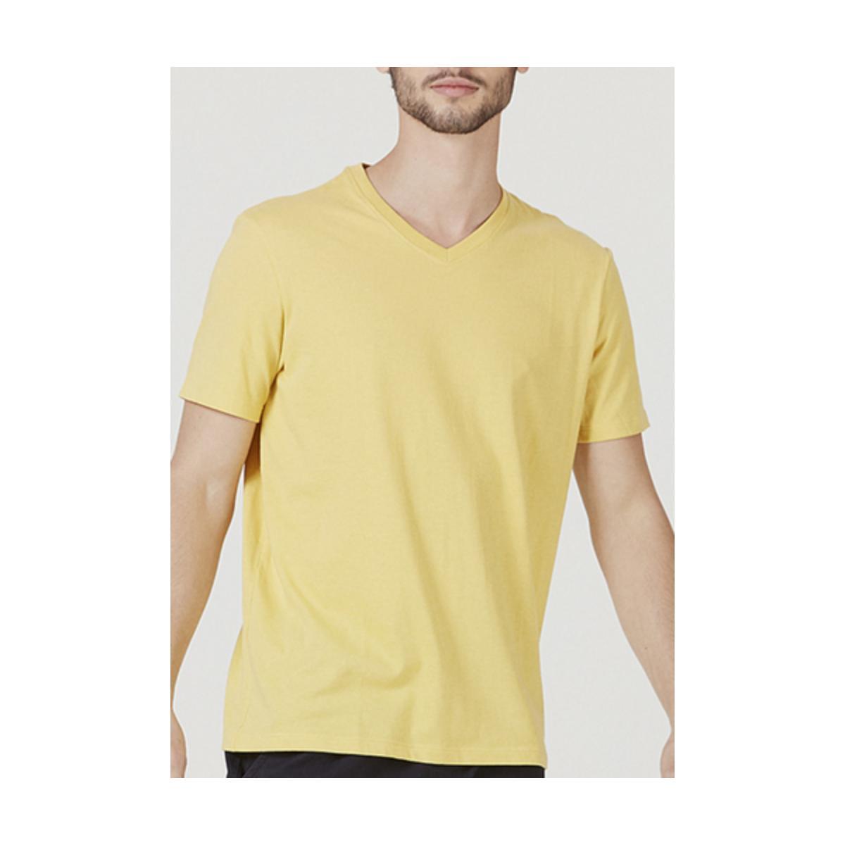 Camiseta Masculina Hering 022b Ynjen Amarelo Claro
