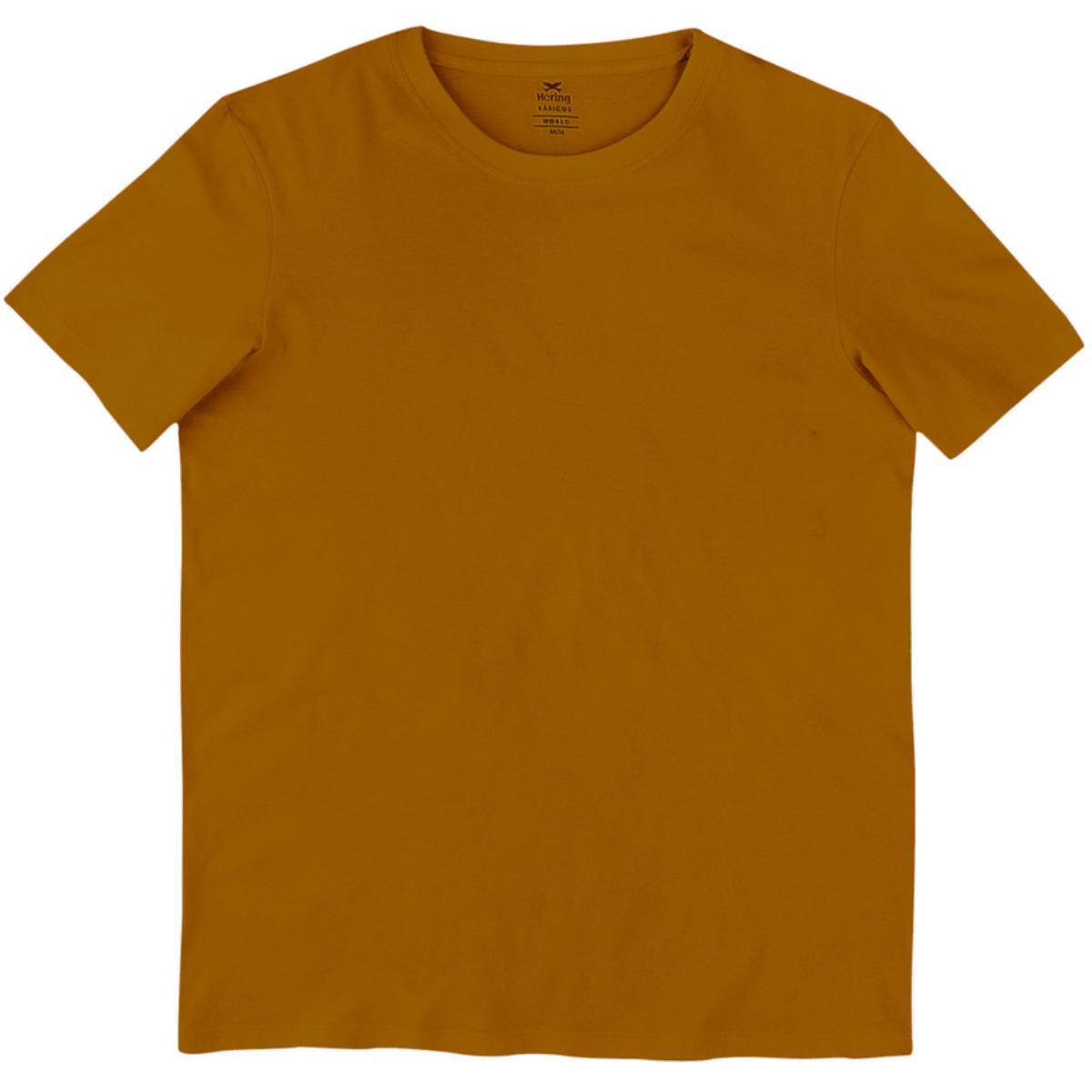 Camiseta Masculina Hering 0201 Yufen Camel