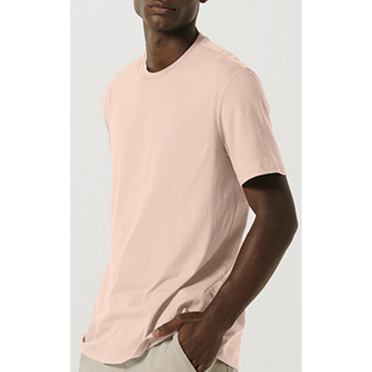 Camiseta Masculina Hering 0227 Kmmen Rosa Claro