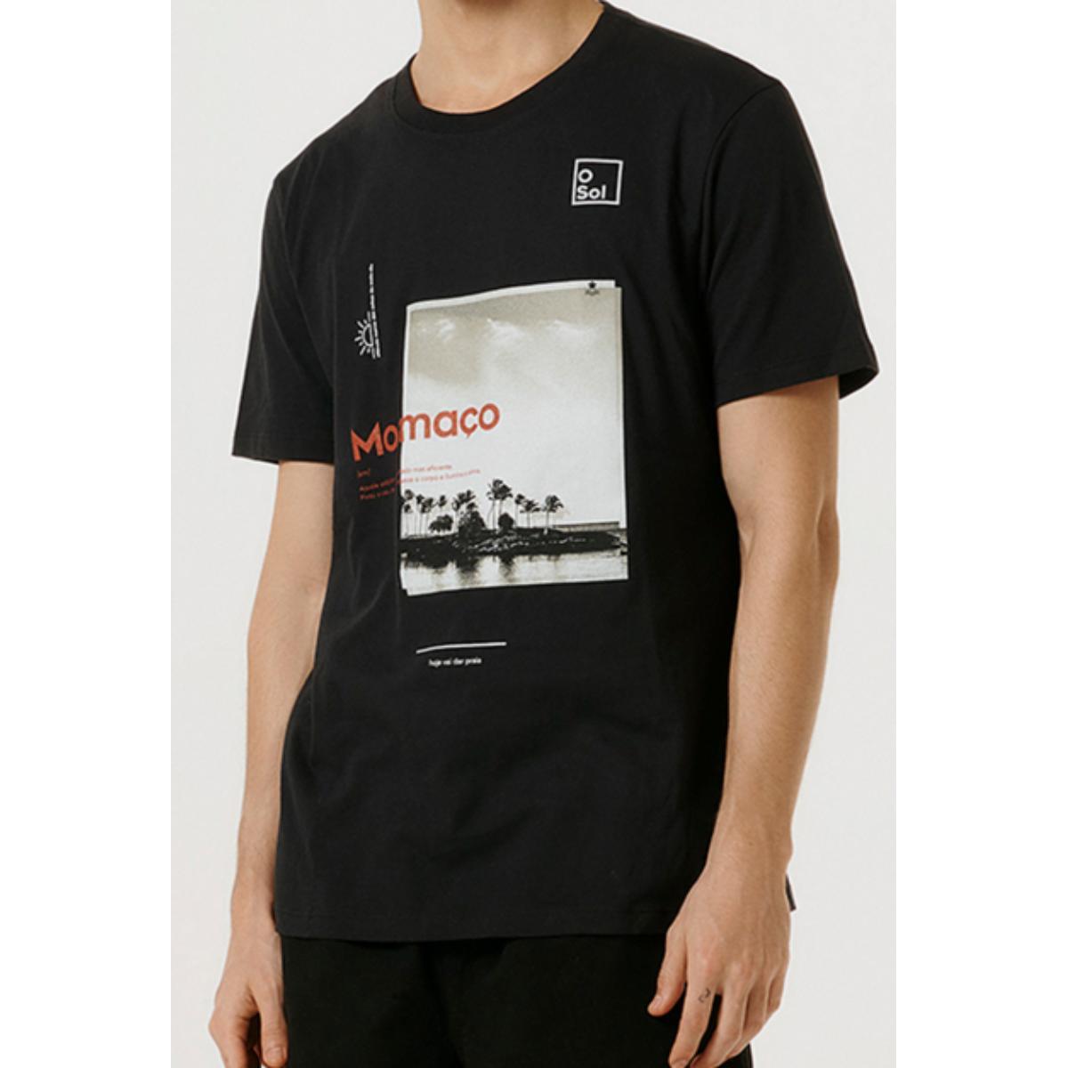 Camiseta Masculina Hering 4f78 N10en Preto
