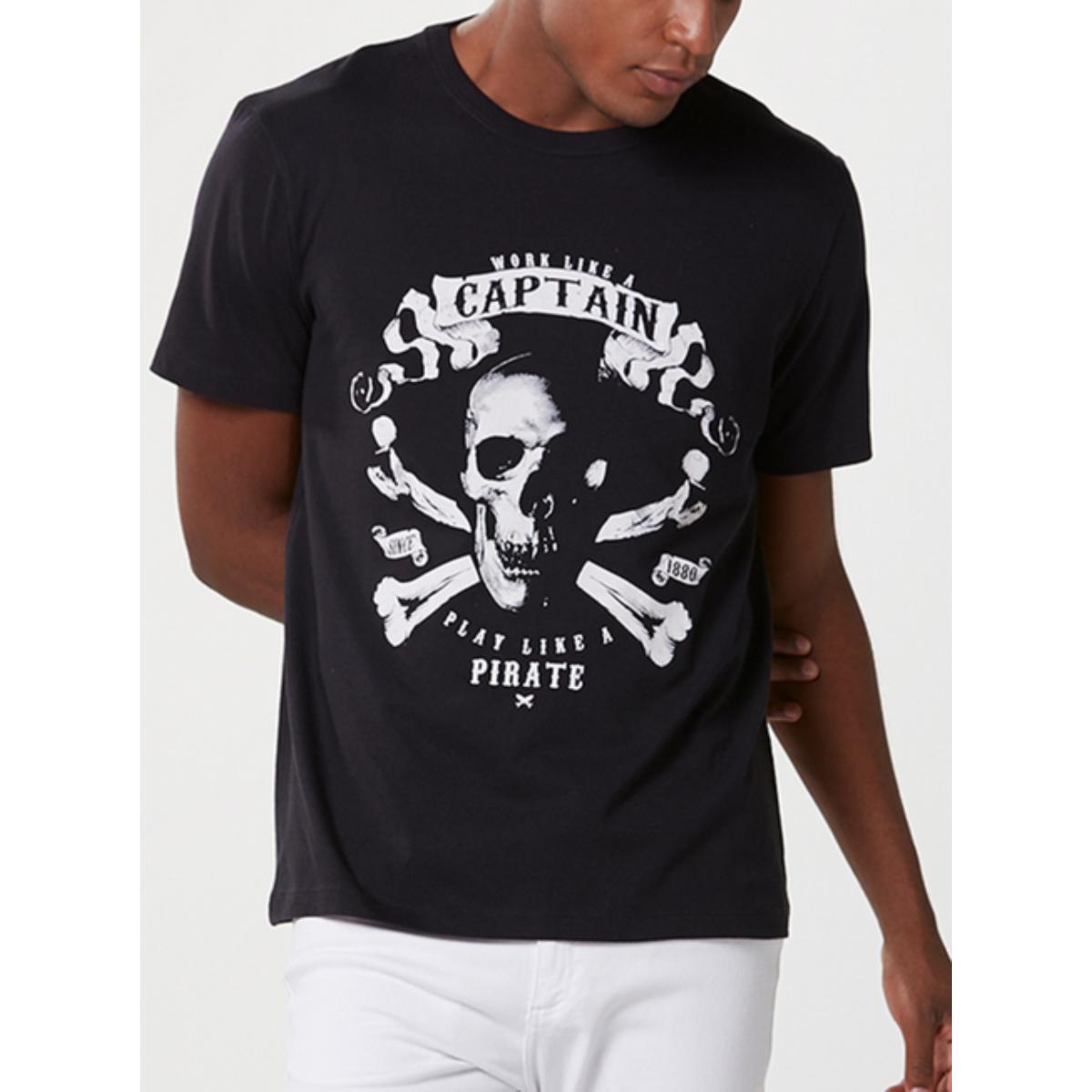 Camiseta Masculina Hering 4f87 1cen  Preto