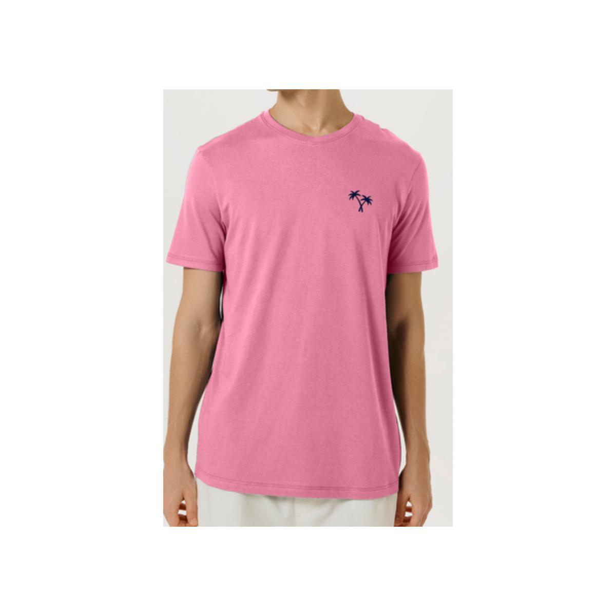 Camiseta Masculina Hering 4fdp Kapen Rosa