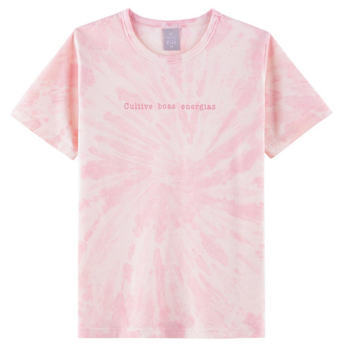 Camiseta Uni Infantil Hering Kids 5cgf 1den  Rosa