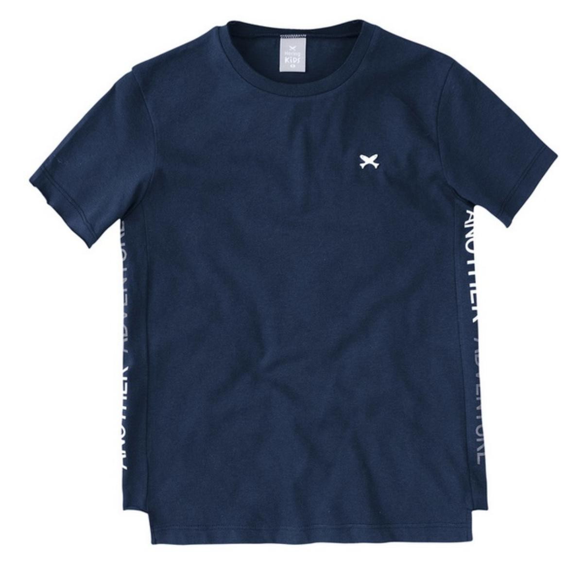 Camiseta Masc Infantil Hering Kids 5cx4 Axten Marinho