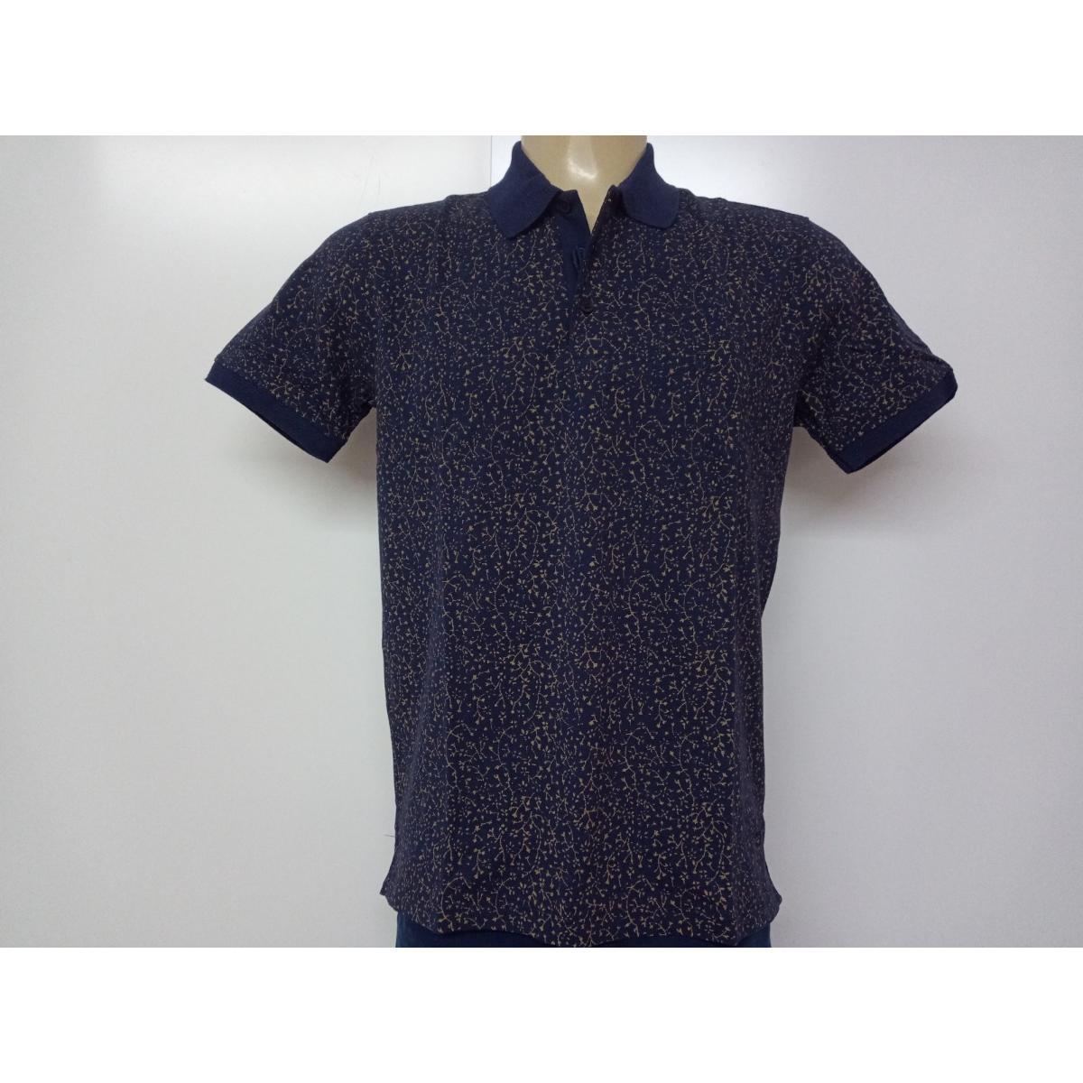 Camiseta Masculina Individual 08.75.0908.94 Marinho/floral