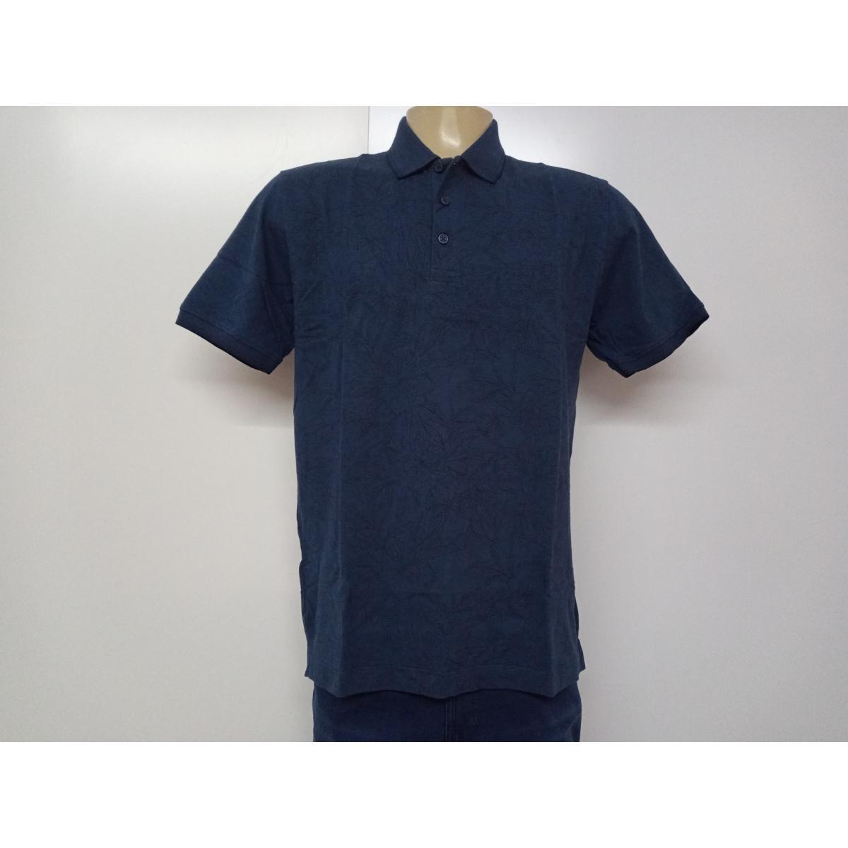 Camiseta Masculina Individual 08.75.0826.40 Estampado Azul Floral