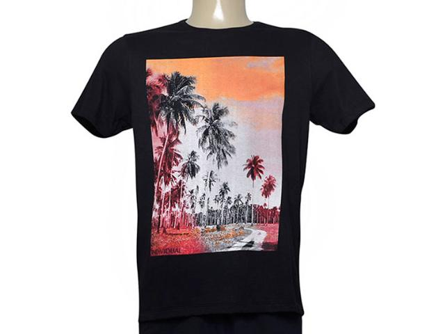 Camiseta Masculina Individual 304.22222.210 Preto