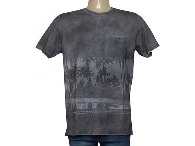 Camiseta Masculina Individual 304.11111.054 Cinza Estonado