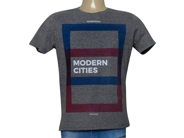 Camiseta Masculina King & Joe Ca09024 Mescla/color