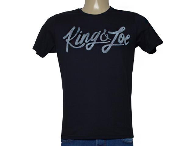 Camiseta Masculina King & Joe Ca09026 Preto