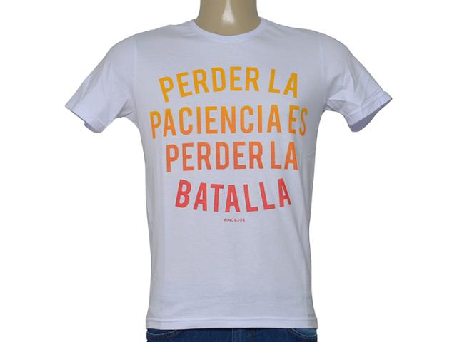 Camiseta Masculina King & Joe Ca09005 Branco