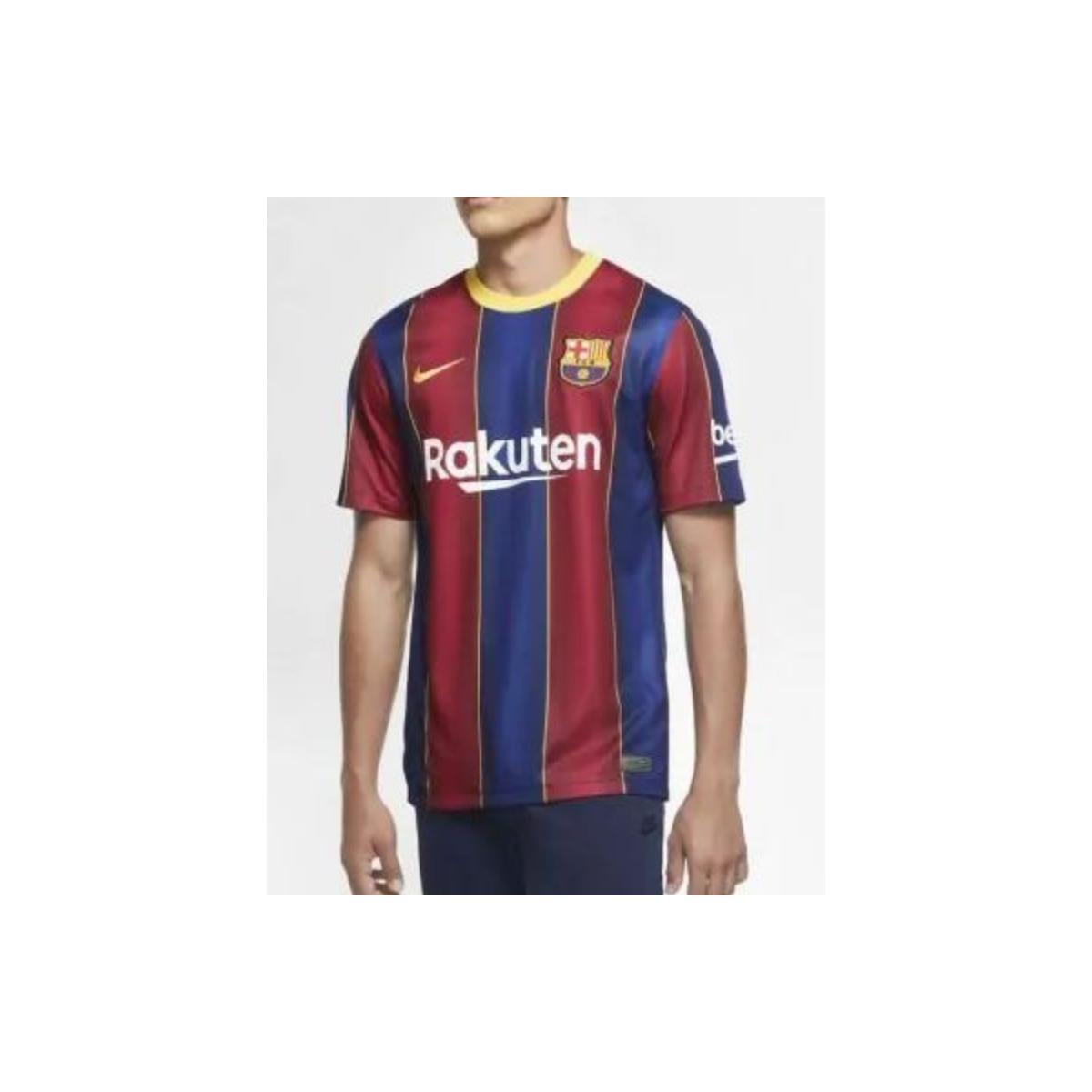 Camiseta Masculina Nike Cd4232-456 fc Barcelona Azul/bordo