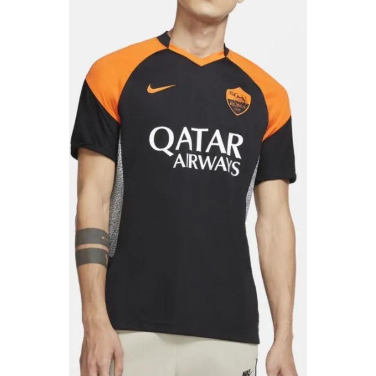 Camiseta Masculina Nike Ck7828-011 Roma Preto/laranja