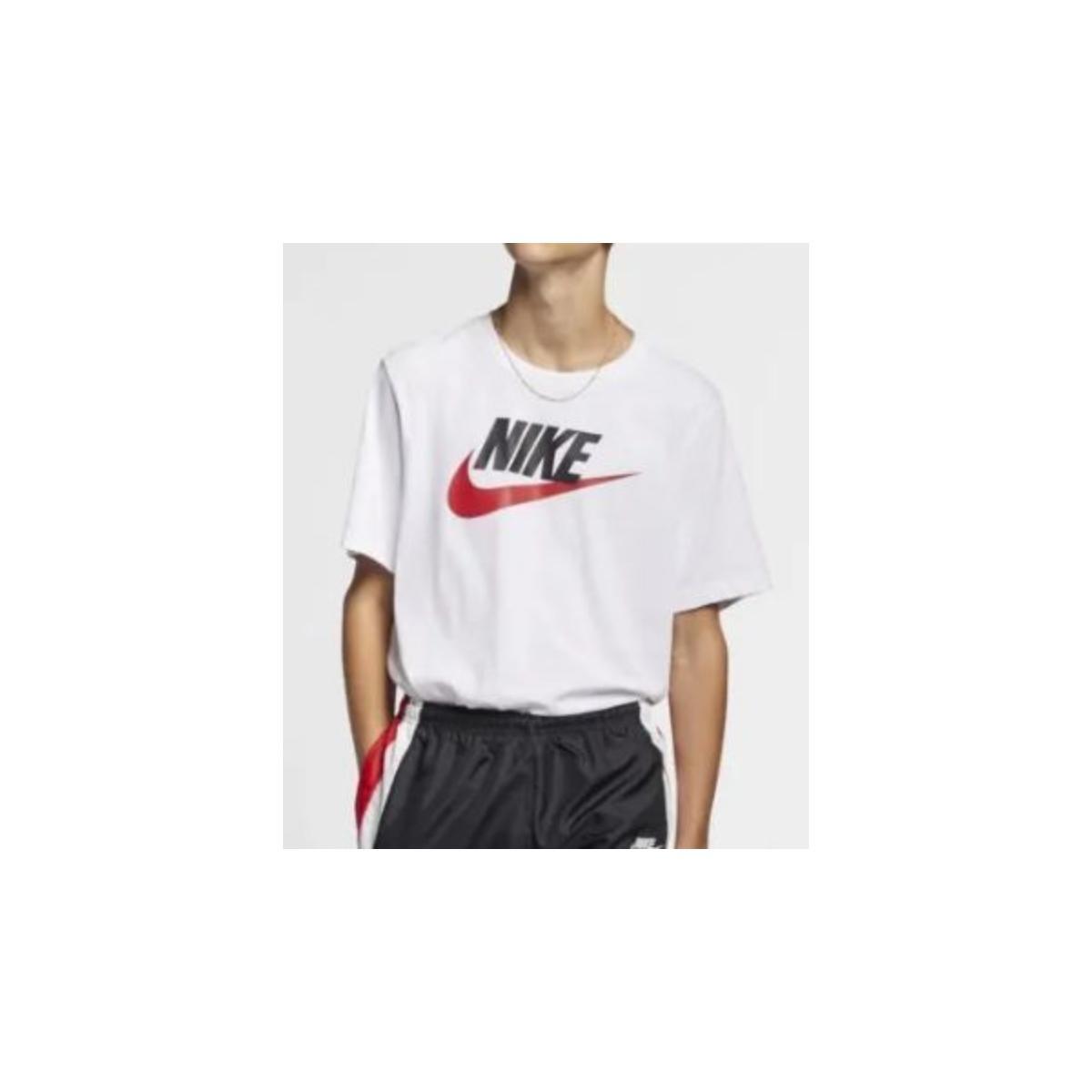 Camiseta Masculina Nike Ar5004-100 Sportwear Branco/preto