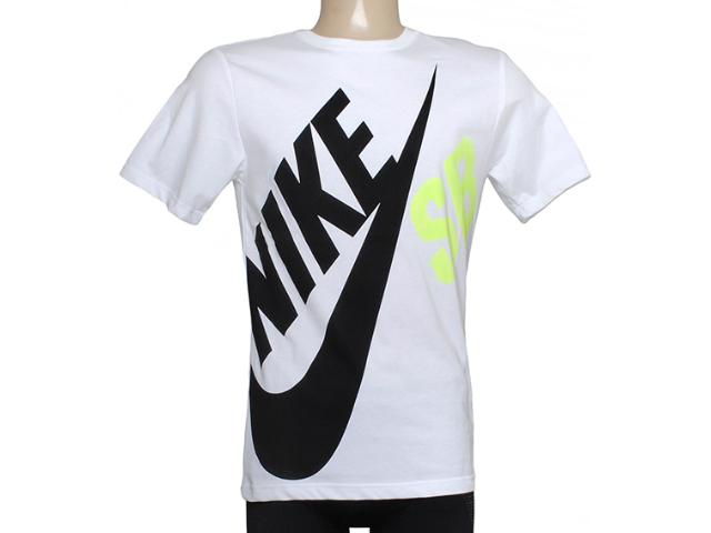 Camiseta Masculina Nike 619061-103 sb df Big Tee Branco/preto/limão