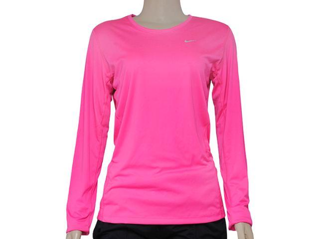 Camiseta Feminina Nike 519833-667 Miler ls Top  Pink