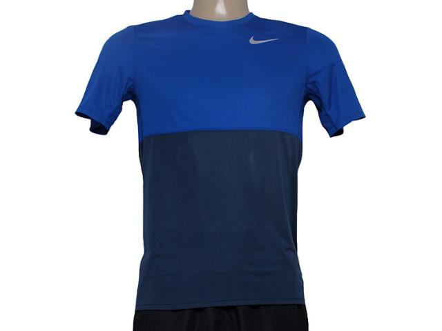 Camiseta Masculina Nike 644396-460 Racer ss Grafite/royal
