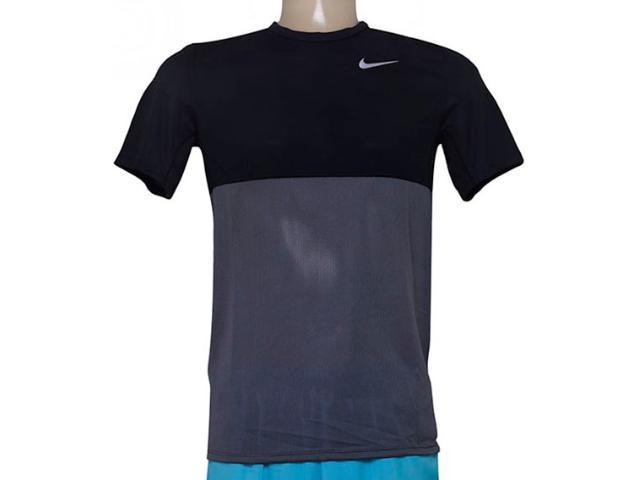 Camiseta Masculina Nike 644396-021 Racer ss  Preto/grafite