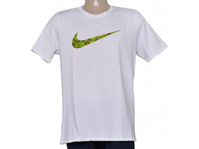 Camiseta Masculina Nike 779690-100 Tee-palm Print Swoo  Branco