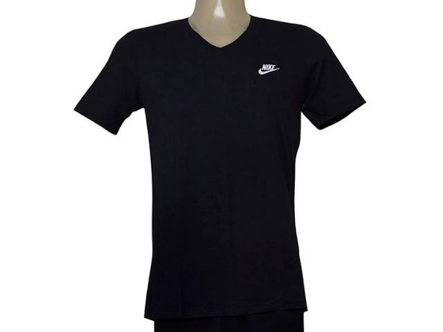 Camiseta Masculina Nike 827023-010 Tee v Neck Embrd Preto