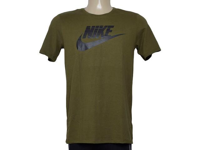 Camiseta Masculina Nike 696707-395 Futura Icon Verde Musgo