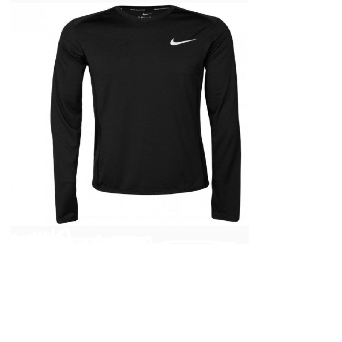 Camiseta Masculina Nike 833593-010 Dry Miler Running Preto