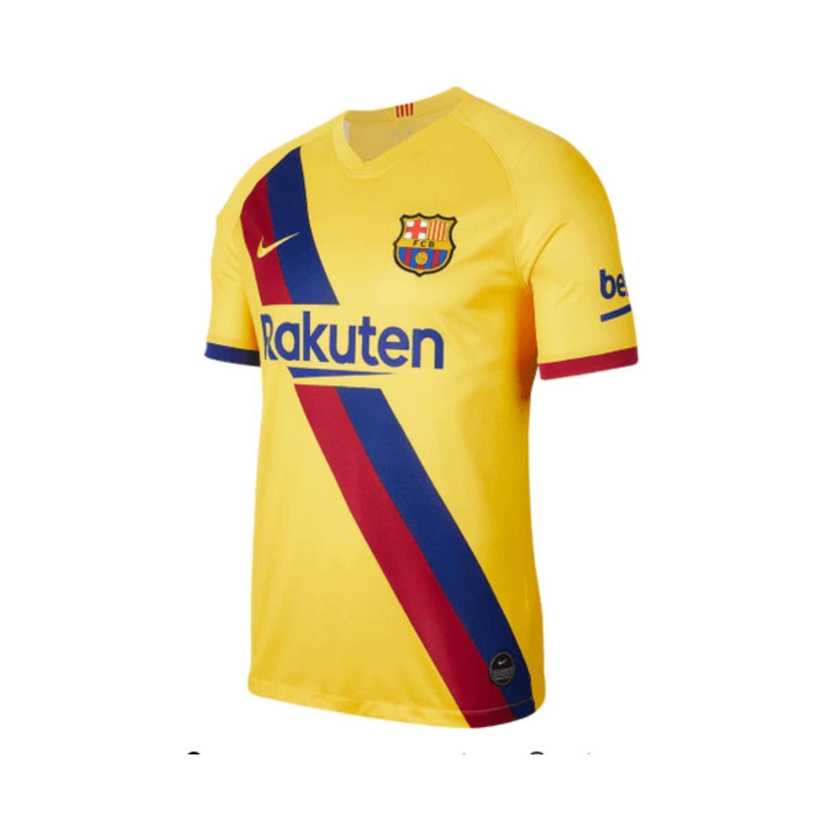 Camiseta Masculina Nike Aj5531-728 Brea fc Barcelona Sta aw Amarelo/vermelho/marinho