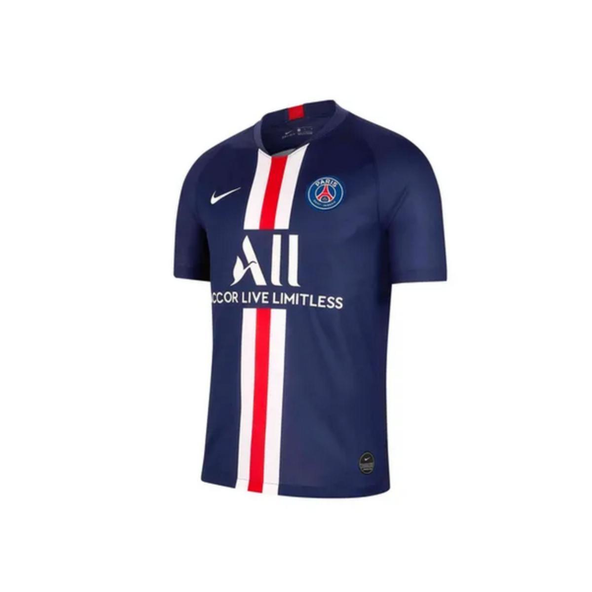Camiseta Masculina Nike Aj5553-411 Paris Saint Germain Stadium 2019 Marinho