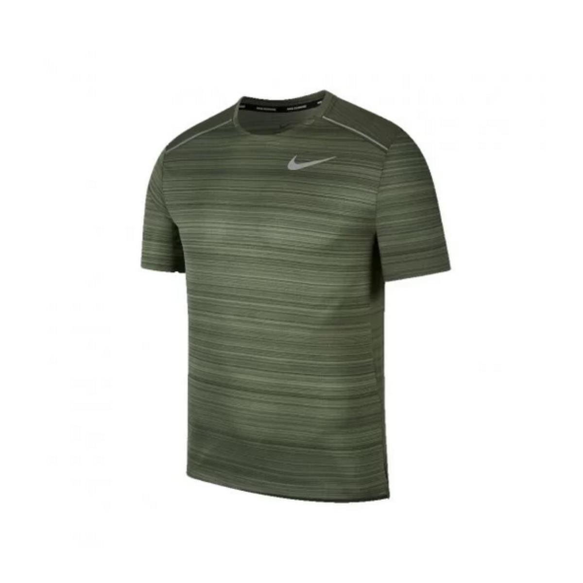 Camiseta Masculina Nike Aj7565-326  Dri-fit Miler Verde