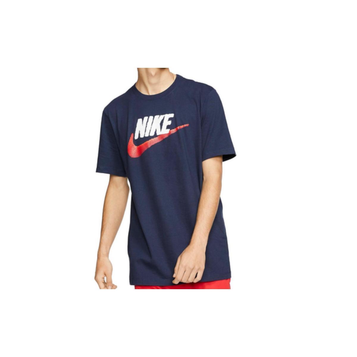 Camiseta Masculina Nike Ar4993-452 Sportswear Marinho/branco