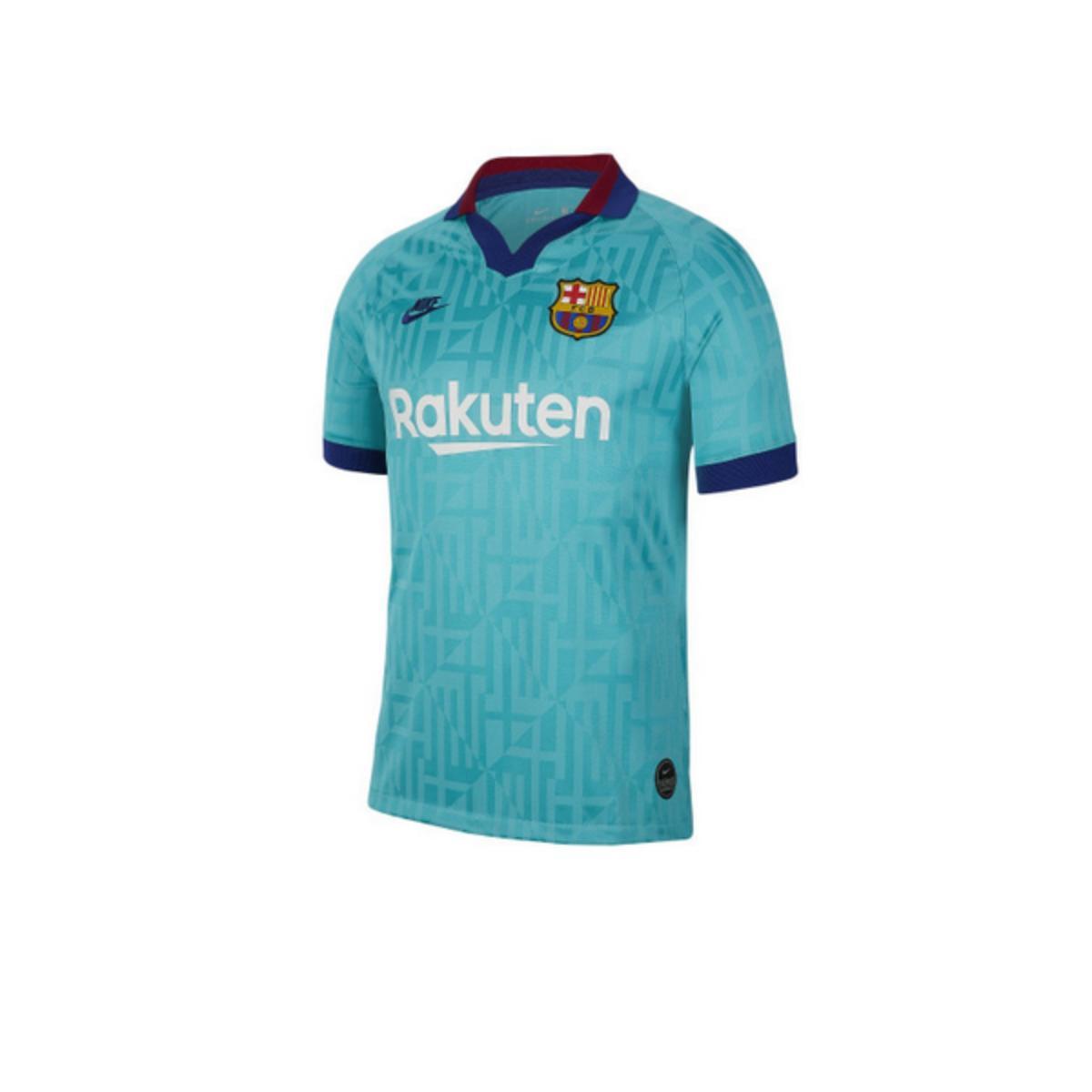 Camiseta Masculina Nike At0029-310 Breathe fc Barcelona Stadium Third Verde/royal/v