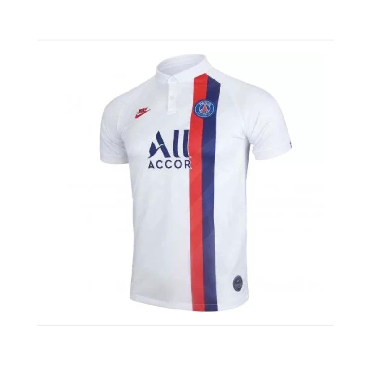 Camiseta Masculina Nike At0033-102 Paris Saint Germain Stadium 2019/branco/vermelho