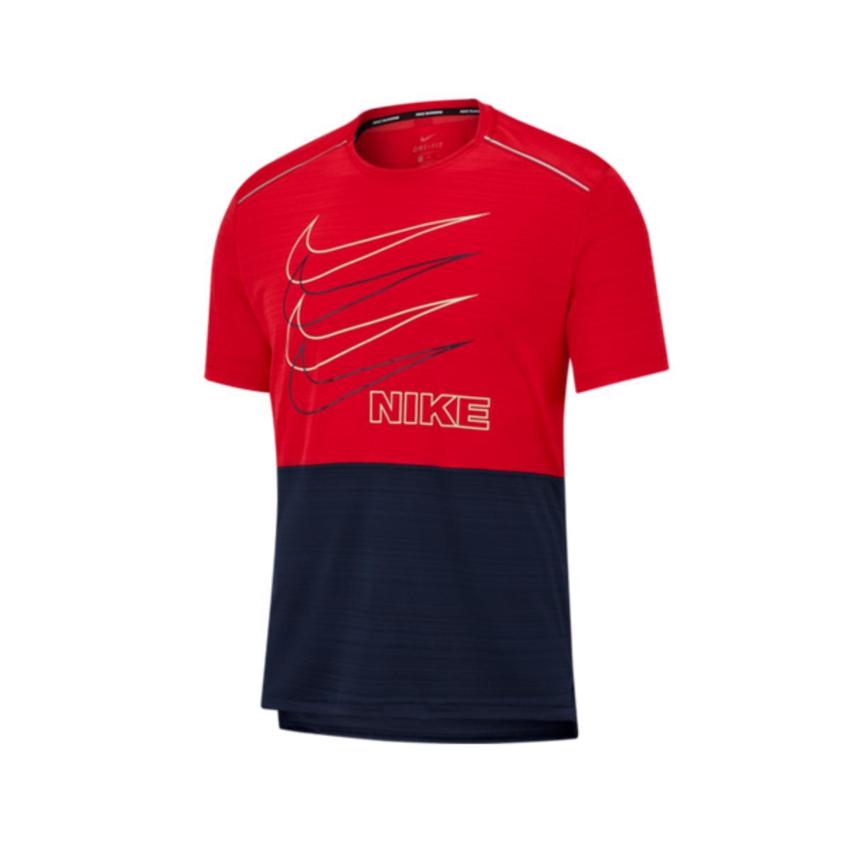 Camiseta Masculina Nike Bv4625-657  df Miler Vermelho/marinho