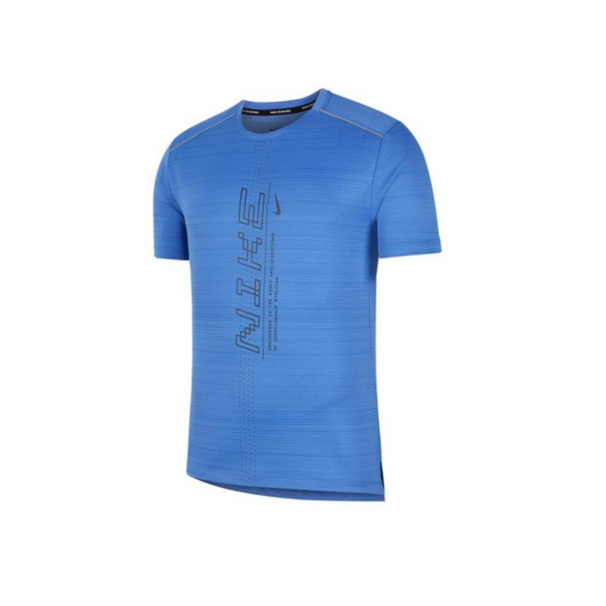 Camiseta Masculina Nike Cj5340-402 Dri Fit Miler Azul