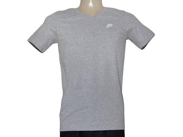 Camiseta Masculina Nike 827023-063 Tee-v Neck Embrd Cinza