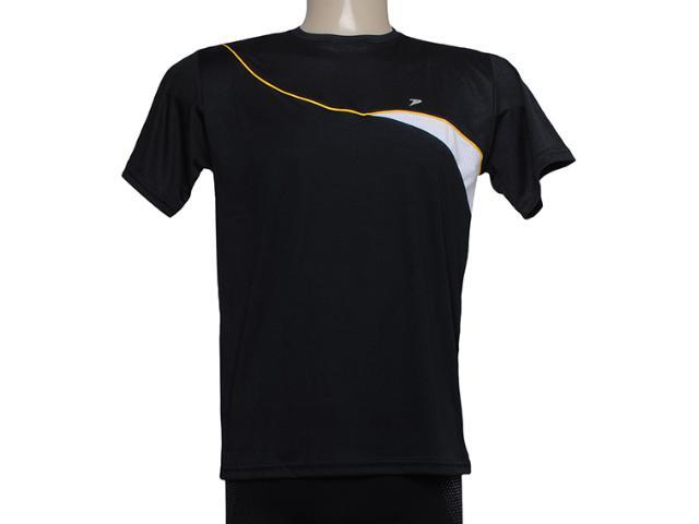 Camiseta Masculina Poker 04590 Preto/branco/amarelo
